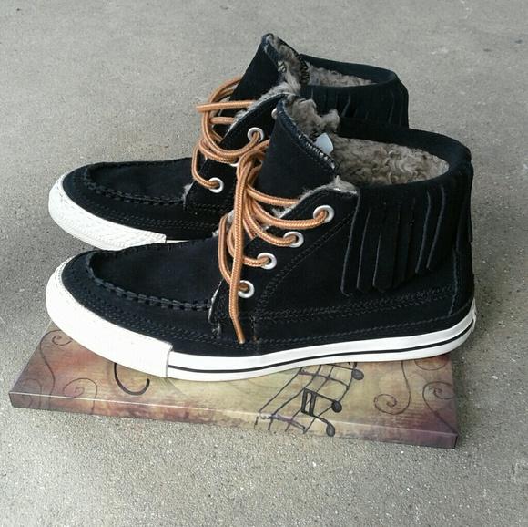 Converse Zapatos All Star Fringe Suede zapatillas Sz 7 7 Sz Euc Poshmark 10472a